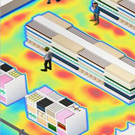 Immagine analisi heatmapping per calcolo occupazione aree con  Data Lab / Kedacom