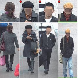 Immagine telecamere con AI per riconoscimento sagoma umana capaci di riconoscere la sagoma umana frontale e posteriore
