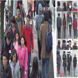 Immagine telecamere di riconoscimento umano per conteggio persone dal video