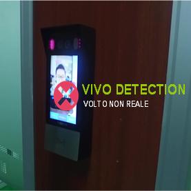 Immagine controllo accessi Face ID con riconoscimento facciale Data Lab Kedacom e tecnologia VIVO DETECTION