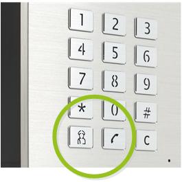 Il citofono DIVIR27A ha un comodo tastierino numerico e due tasti speciali programmabili