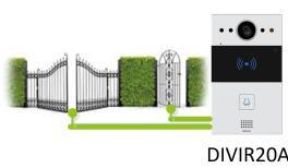 Il citofono DIVIR20A può controllare due uscite, cancelli, ingressi