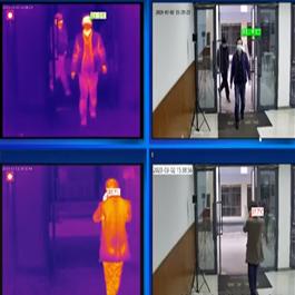 Software del sistema Kedacom KFY2020-T400-HT per controllo della febbre e misurazione della temperatura corporea dal video ad elevata precisione, completa di blackbody, pc all-in-one con display 17 per operazioni avanzate e varchi multipli