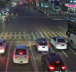 Immagine di esempio con telecamera Kedacom dotata di tecnologia d'immagine Starlight, in condizione di bassa illuminazione l'immagine è luminosa, nitida e priva di rumore