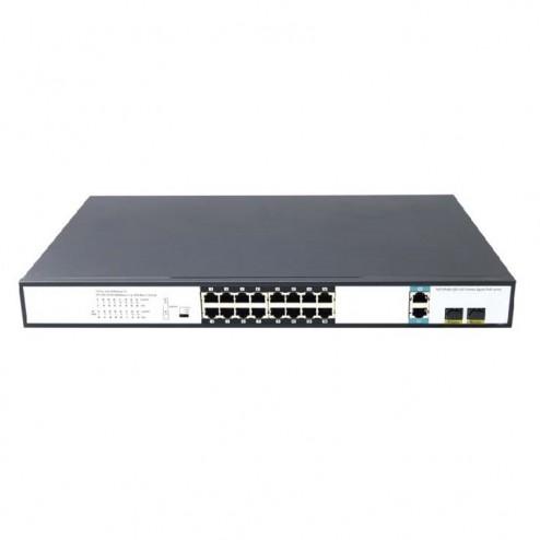 Immagine switch PoE Data Lab DPOE16US 16 porte 10/100/1000 con PoE e 2 porte combo Gigabit Ethernet / SFP