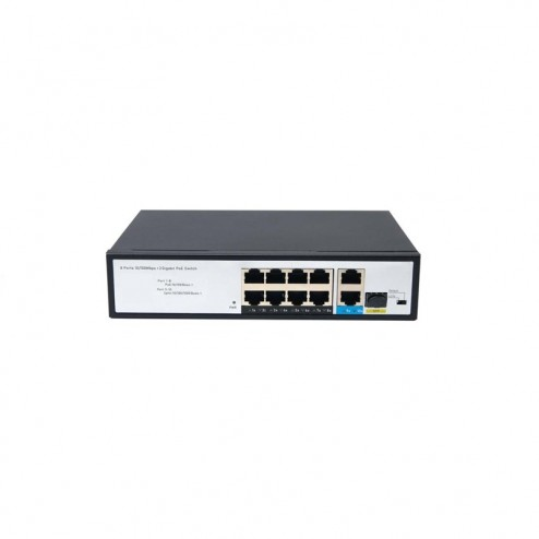 Immagine switch PoE Data Lab DPOE4USG 8 porte 10/100 con PoE, 1 porta 10/100/1000 ed 1 porta SFP